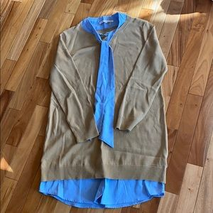 NWOT. English Factory Sweater with Blouse. Large.